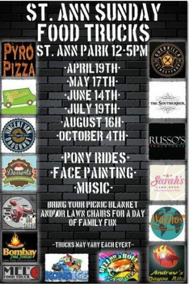 St. Ann Sunday Food Truck Expo: June