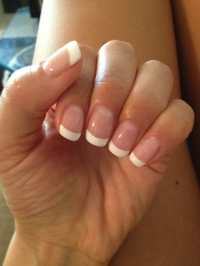 French Pink and White Gel manicure $35 | Yelp