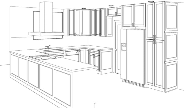 From initial design and kitchen sketch to cabinet