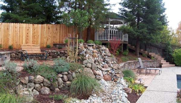 sacramento landscaping with dry