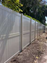 Tan 8ft tall Privacy Select Vinyl Fence. If 6ft tall vinyl ...