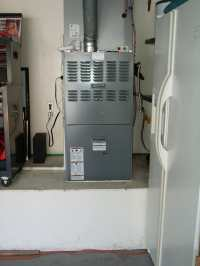 Upflow Furnace in garage
