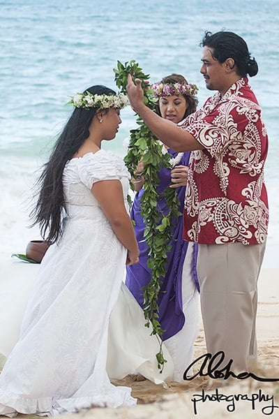 A Traditional Hawaiian Wedding Ceremony conducted in