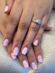 gorgeous light pink wedding nails