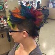 rainbow mohawk hair salon pravana
