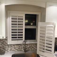 Kitchen Window Shutters Swivel Aerator For Faucet Think You Can T Put Plantation Over Your Sink Photo Of Elite Decor Treatments Miami Fl United States