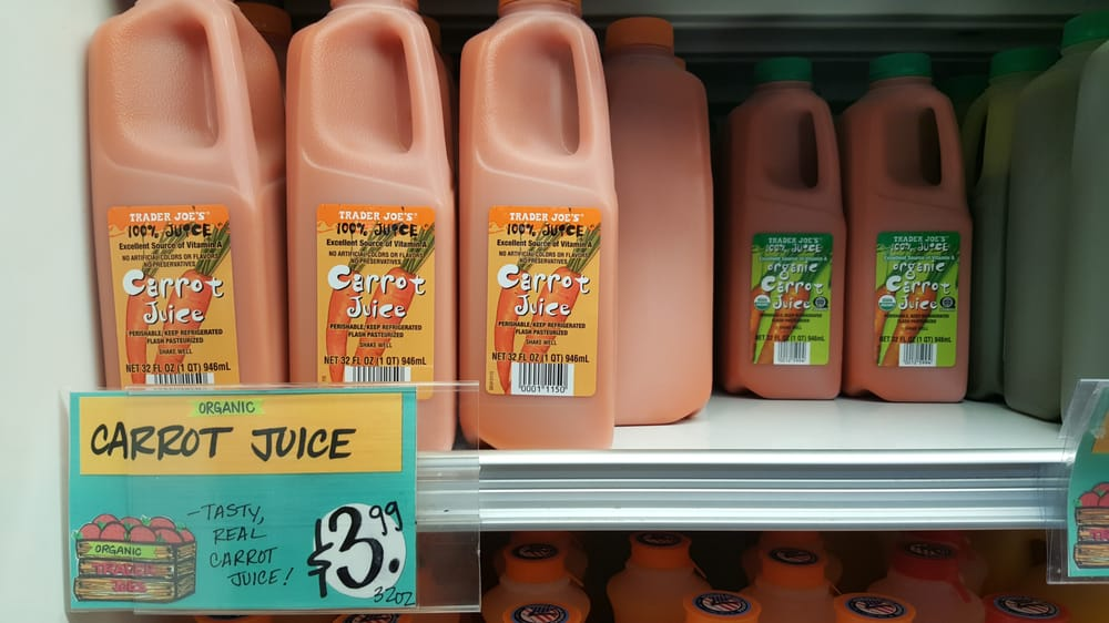 Not sure how much the conventional carrot juice is but the organic is $4 for this larger size and $2 for the individual. - Yelp