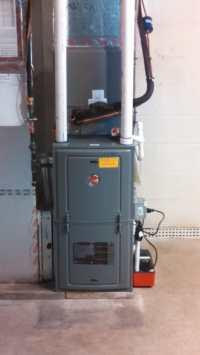 New RHEEM 92% Gas Furnace. - Yelp