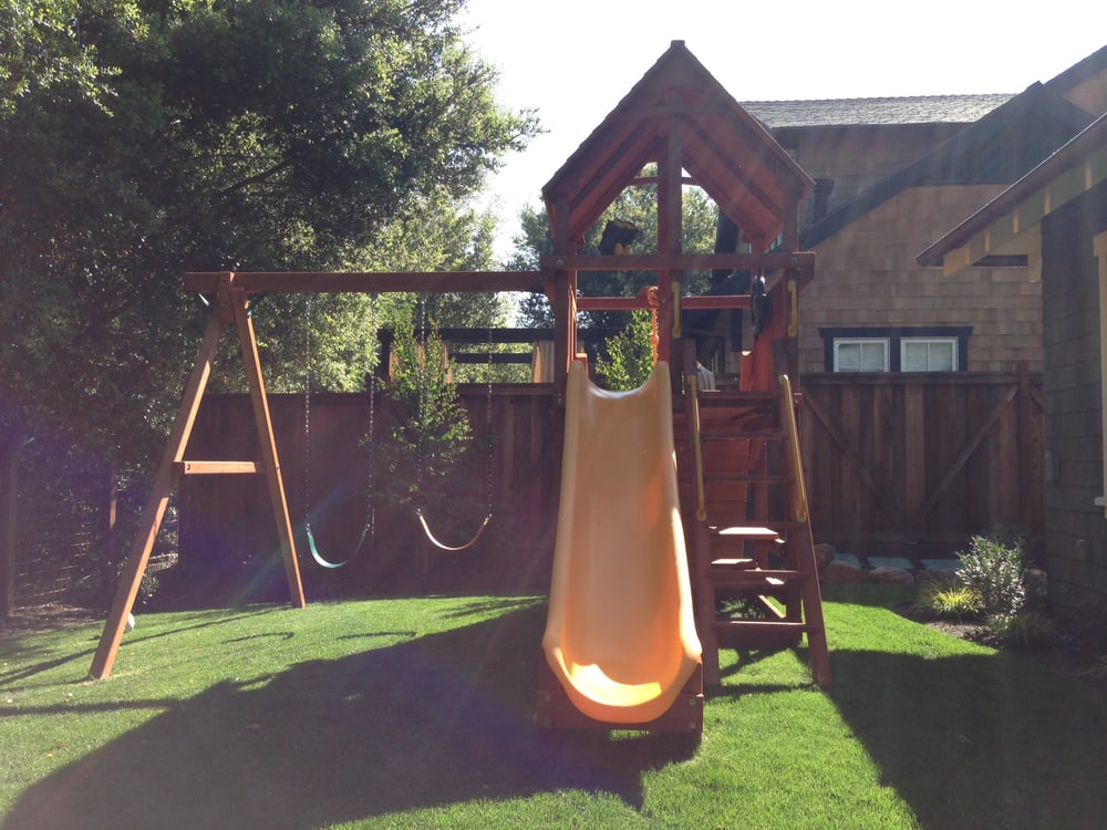 Picture Of Backyard Factory Play Structure Installed In