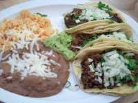 3 Taco combo platter