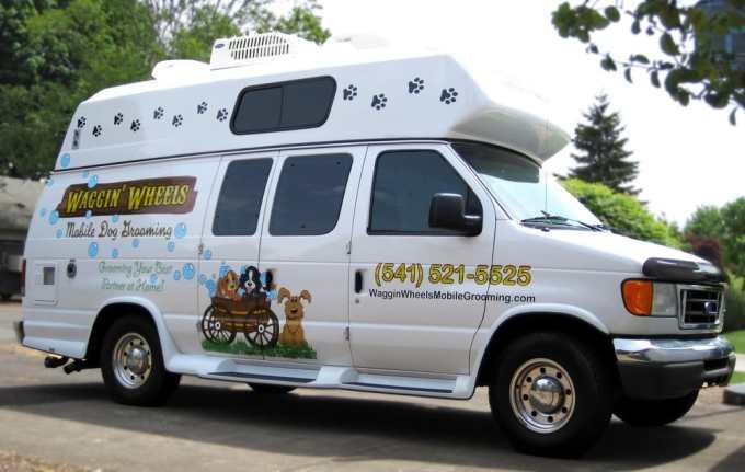 Waggin' Wheels mobile grooming van - Yelp