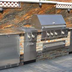 Viking Outdoor Kitchen Overhead Lighting With Stone Veneer Installed In Malba Ny Yelp Photo Of Nyc Fireplaces And Kitchens Maspeth United States