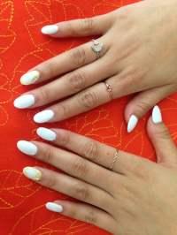 All White Round Acrylic Nails | www.pixshark.com - Images ...
