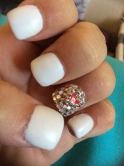 diamond covered accent nail