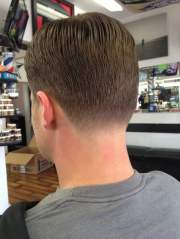 classic mens haircut with tapered