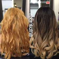 Hair Color Vs Bleach Newhairstylesformen2014 Of Color Over ...