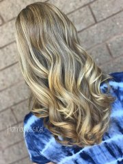 shear gold hair design
