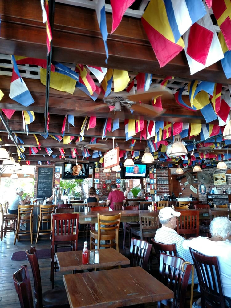 Boathouse Bar & Grill - Key West, FL, United States. Love all the flags!