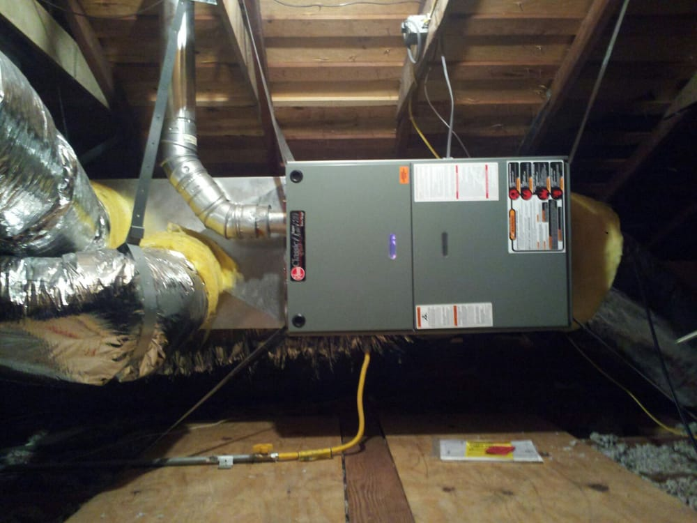 Furnace Installation in an Attic