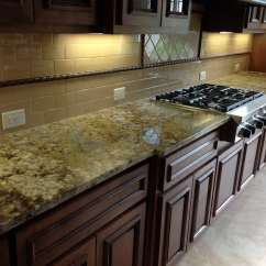 Alder Kitchen Cabinets Light Jaguar Granite Countertops - Yelp