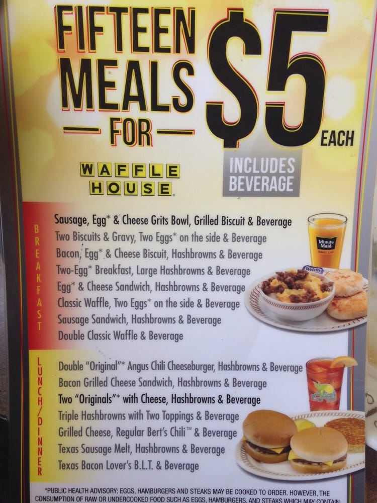 Waffle House Dollar Menu