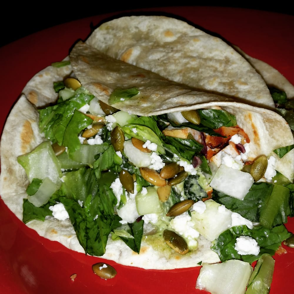 Wow Chicken Tacos from Caliente Southwest Grille in Costa