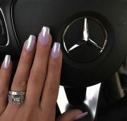nails nina. color light purple