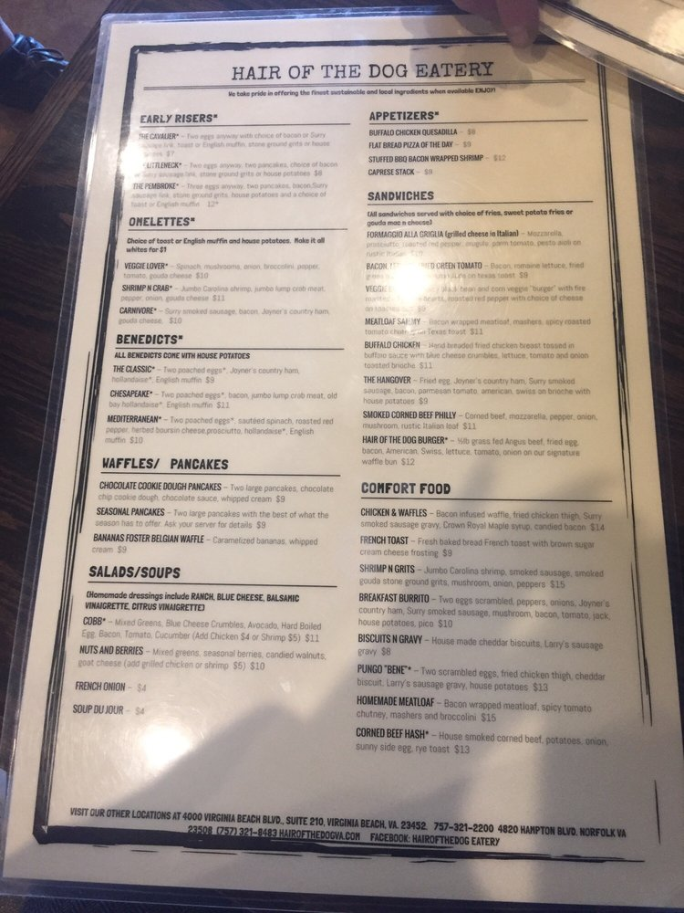 Photos For Hair Of The Dog Eatery Menu Yelp