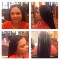 Micro Braids. Straight Human Hair. Done in 4 hours
