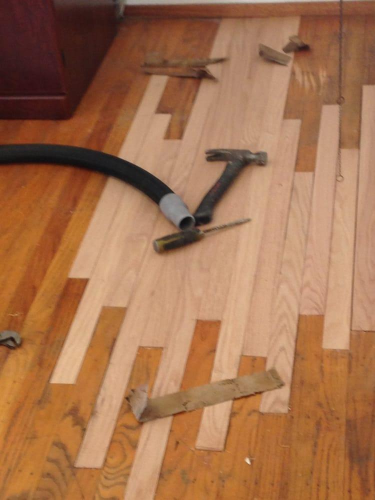 Lakewood California 90713 solid hardwood floor spot repair