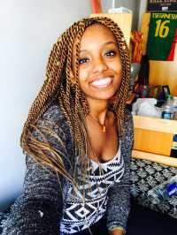 african hair braiding career brown gold mixed color thick ...