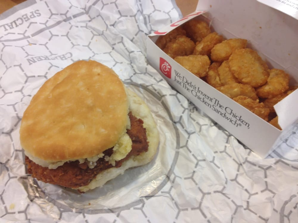 spicy chicken biscuit with