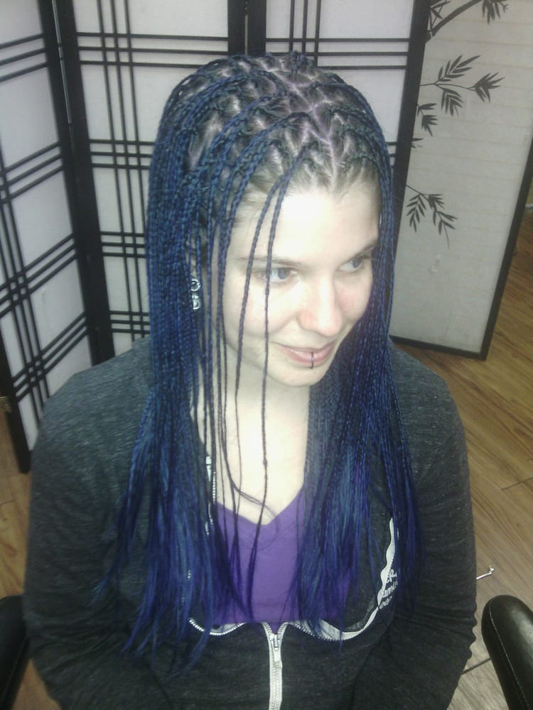 white girl with micro braids $275.00