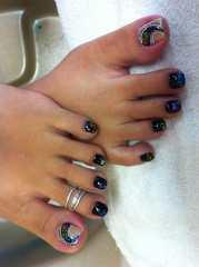 mardi gras toes nails design