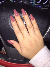 Gel Coffin shaped acrylic nails by Brian $30 - Yelp