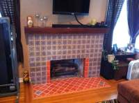 Hand-Painted Mexican Tile Fireplace and Hearth - Yelp