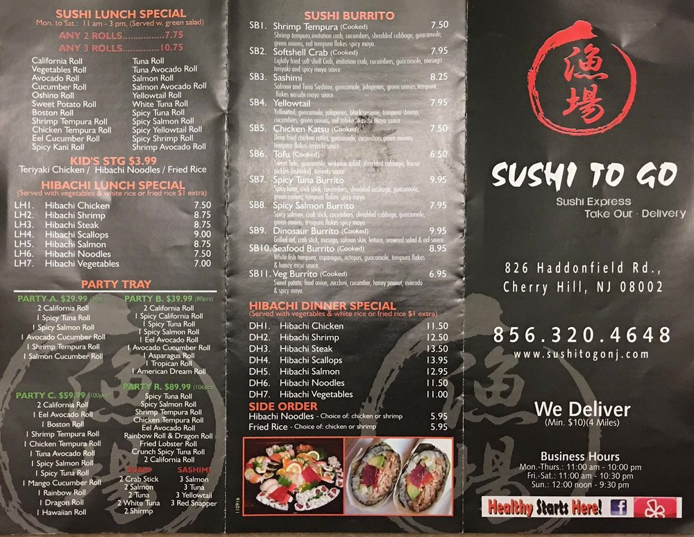 Take Out Sushi Restaurants Near Me