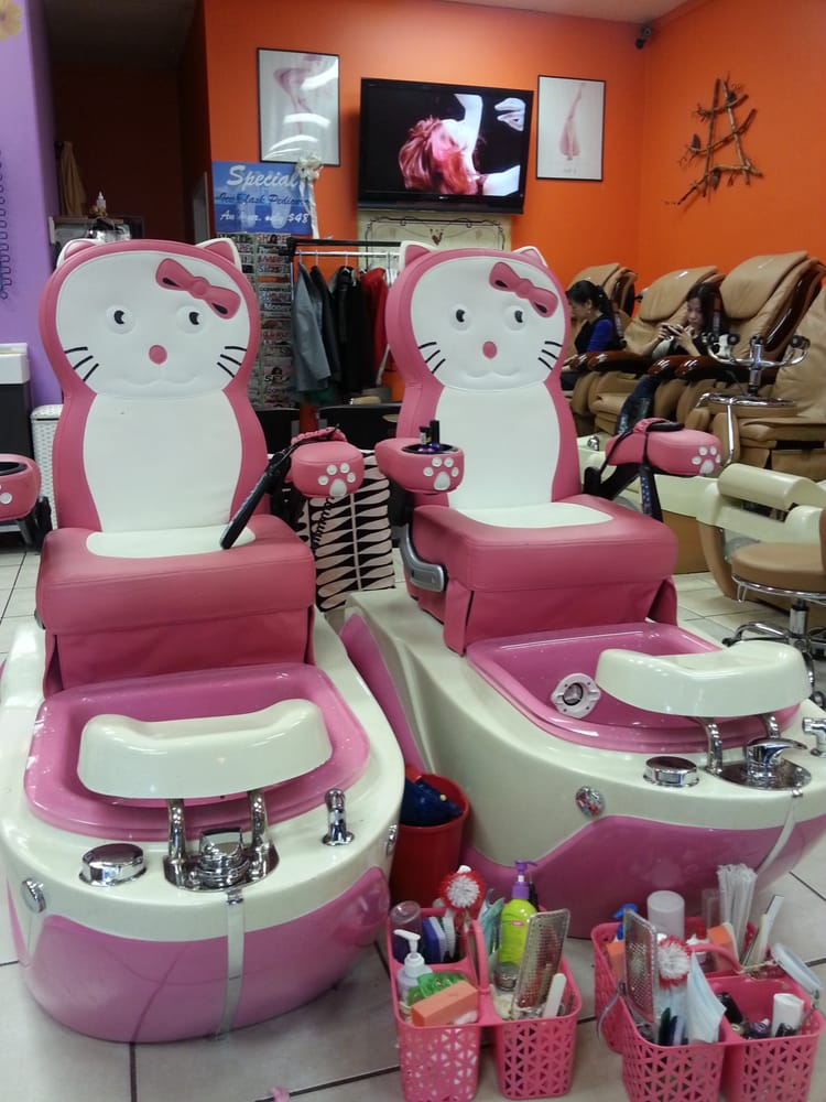 kids spa chair sling chaise lounge hello kitty chairs for yelp photo of red nails saint paul mn united states
