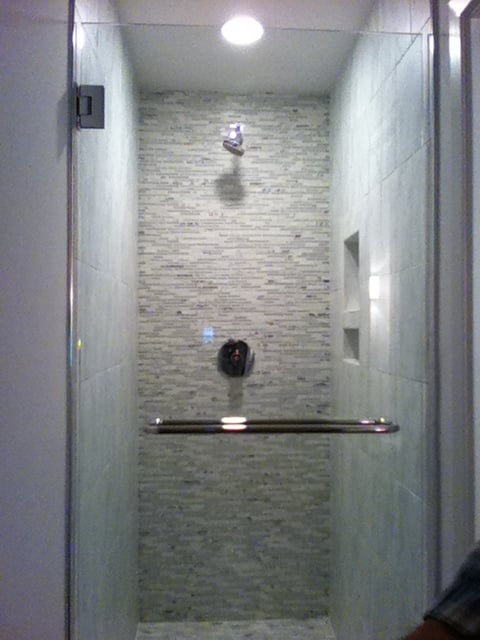 Marble  Glass Linear Mosaic Accent Shower Wall  Yelp