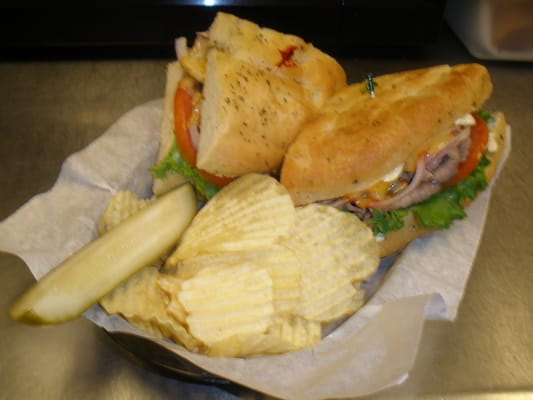 Try our Asiago Roast Beef Sandwich on Focaccia Bread with