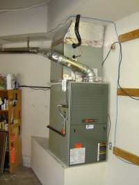 AFTER- Trane XV80 furnace with matching evaporator coil ...