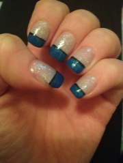 awesome blue- tip french manicure