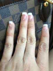 pink and white gel nails yelp