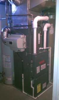 Furnace replacement with a 95% Efficient Goodman ...