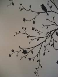 Tree Silhouette With Birds Painting