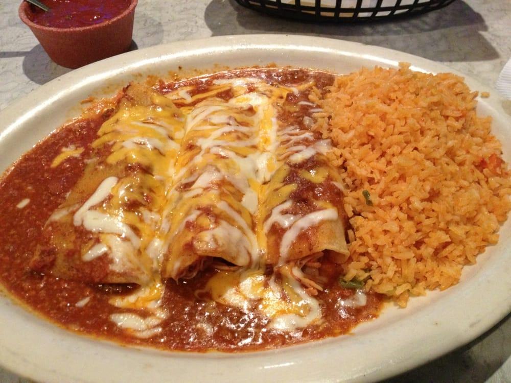 Three enchilada plate with 2x rice 699  Yelp