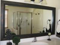Bathroom mirror frame, mirror frame kit, black mirror ...