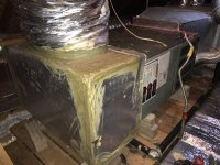 Old Rheem gas furnace, no metal stands, return plenum ...