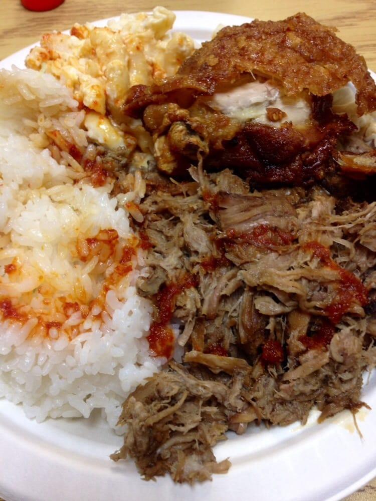 Kalua pork and cpc w spicy garlic sauce   Yelp