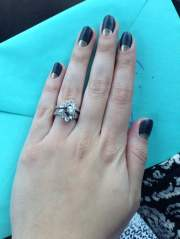 moon shaped manicure